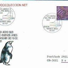 Sellos: SUIZA - AVIACION - PRIMER VUELO. Lote 2294539