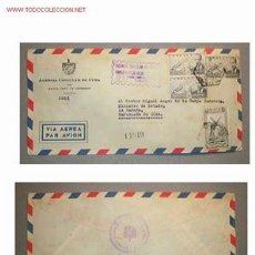 Sellos: SOBRE DIRIGIDO DESDE LA AGENCIA CONSULAR DE CUBA EN STA. CRUZ DE TENERIFE ,CANARIAS EN 1954. Lote 12176373