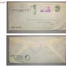 Sellos: SOBRE DIRIGIDO DESDE EL CONSULADO GENERAL DE CUBA EN BARCELONA EN 1953. Lote 14705015