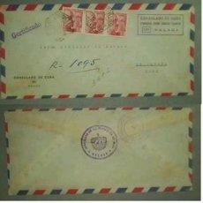 Sellos: SOBRE DIRIGIDO DESDE EL CONSULADO DE MALAGA EN 1954. Lote 12523875