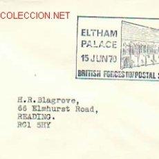 Sellos: MILITARIA - ELTHAM PALACE, SERVICIO POSTAL DE LAS FUERZAS ARMADAS INGLESAS. Lote 565662