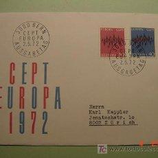 Sellos: 1943 SUIZA HELVETIA 1972 TEMA EUROPA SOBRE DIA EMISION SPD FDC MAS EN MI TIENDA COSAS&CURIOSAS. Lote 3547362