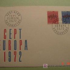 Sellos: 1947 SUIZA HELVETIA 1972 TEMA EUROPA SOBRE DIA EMISION SPD FDC MAS EN MI TIENDA COSAS&CURIOSAS. Lote 4498917