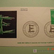 Sellos: 1950 FRANCIA FRANCE 1960 TEMA EUROPA SOBRE DIA EMISION SPD FDC MAS EN MI TIENDA COSAS&CURIOSAS. Lote 3551354