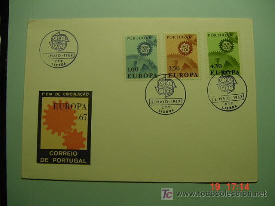 4714 PORTUGAL TEMA EUROPA ESCASO FDC - SPD 1967 - MIRA MAS EN COSAS&CURIOSAS (Sellos - Historia Postal - Sellos otros paises)
