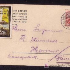 Sellos: ALEMANIA.(CAT.84+VIÑETA).1907.T.P.DE BERNBURG A DINAMARCA.10P.+VIÑETA MULTICOLOR.MAGNÍFICA.MUY RARA.. Lote 25018421