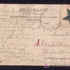 Sellos: HOLANDA.(CAT.51+VIÑETA).1912.T. P. DE HOLANDA A ESPAÑA. 5 C. + VIÑETA ESPERANTO DIBUJADA A MANO.RRR.. Lote 24654401