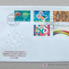 Sellos: FDC SUIZA 1989.. Lote 6496931