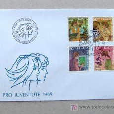 Sellos: FDC SUIZA 1989. JUVENTUD.. Lote 6496937