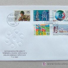 Sellos: FDC SUIZA 1989. . Lote 6496940