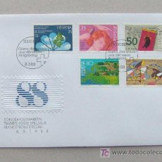 Sellos: FDC SUIZA 1988.. Lote 6496943