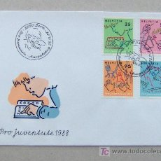 Sellos: FDC SUIZA 1988. JUVENTUD.. Lote 6496947