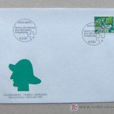 Sellos: FDC SUIZA 1990. PESCADOR.. Lote 6496952