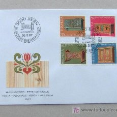 Sellos: FDC SUIZA 1987. MUEBLES ANTIGUOS.. Lote 18318240