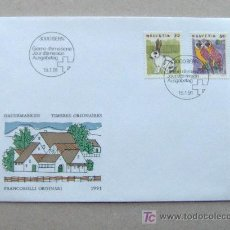 Sellos: FDC SUIZA 1991. ANIMALES.. Lote 4508347