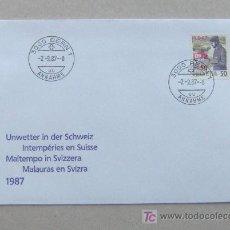 Sellos: FDC SUIZA 1987. SELLO SOBRECARGADO.. Lote 4508360