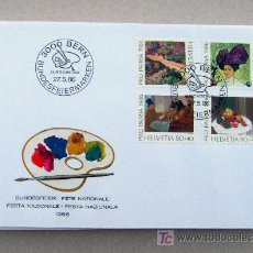Sellos: FDC SUIZA 1986. PINTORES.. Lote 18318243