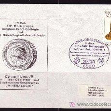Sellos: ALEMANIA SOBRE DE LA EXPOSICION DE MINEROLOGIA Y PALENTOLOGIA DE IDAR - SONDERSCHAU - AÑO 1978. Lote 4699789