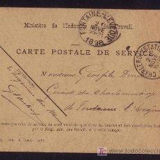 Sellos: FRANCIA. 1898. T. P. FECHADORES * CHARLEROI (STATION) * Y LLEGADA. MAGNÍFICA Y RARA.. Lote 27283373