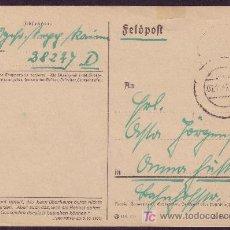 Sellos: ALEMANIA. 1942. T. P. DE CAMPAÑA ALEMANA * FELDPOST * LETRAS GÓTICAS. FECHADOR MUDO. MAGNÍFICA.. Lote 25704928