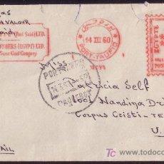 Sellos: EGIPTO. 1960. SOBRE DE PORT-SAID A EE.UU. FRANQUEO MECÁNICO PUESTO EN TRÁNSITO EN PORT-TAUFIQ. RARA.. Lote 24451250