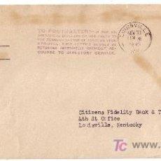 Sellos: EE.UU. 1945.SOBRE DEL DTO. DE GUERRA DE BOWMAN FIELD A LOUISVILLE. MARCA POSTMASTER... MUY BONITA.. Lote 22485262