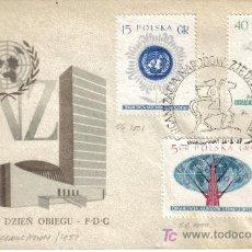 Sellos: POLONIA SPD NACIONES UNIDAS ONU 1957. Lote 9313412
