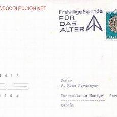 Sellos: SUIZA - FREIWILLIGE SPENDE FÜR DAS ALTER (IMPUESTO VOLUNTARIO PARA LA VEJEZ). Lote 1625130