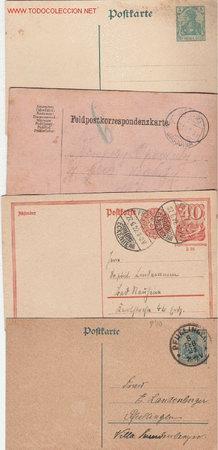 ALEMANIA BONITO LOTE DE ENTERO POSTALES (Sellos - Historia Postal - Sellos otros paises)