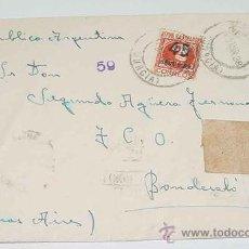 Sellos: ANTIGUO SOBRE CIRCULADO EN PLENA GUERRA CIVIL EN 1938 - CON SELLO DE CENSURA MILITAR DE LA REPUBLICA. Lote 12303951