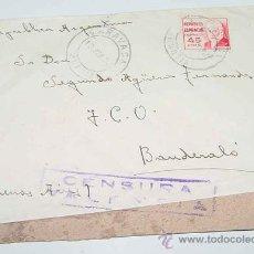 Sellos: ANTIGUO SOBRE CIRCULADO EN PLENA GUERRA CIVIL EN 1938 - CON SELLO DE CENSURA MILITAR DE LA REPUBLICA. Lote 12303955