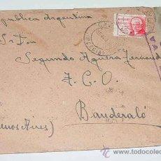 Sellos: ANTIGUO SOBRE CIRCULADO EN PLENA GUERRA CIVIL EN 1938 - CON SELLO DE CENSURA MILITAR VALENCIA - CON . Lote 12303984