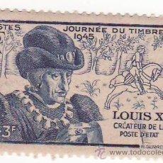 Sellos: FRANCES LUIS XI SIN USO 1945 EL DIA DEL SELLO . Lote 26986854