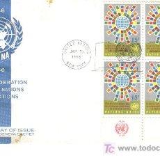 Sellos: NACIONES UNIDAS ONU SPD 1966 FEDERACION DE ASOCIACIONES DE NACIONES UNIDAS. Lote 14397637