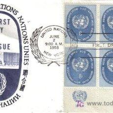 Sellos: NACIONES UNIDAS ONU SPD 1958 BASICA. Lote 14397658