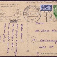 Sellos: ALEMANIA. 1955. T. P. FRANQUEO MIXTO * FEDERAL-OCCIDENTAL *.. Lote 24195718