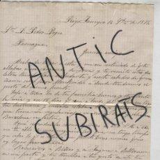 Sellos: SOBRE .RIO DE JANEIRO.BRASIL.PARANAGUA.AÑO 1878.PEDRO PAGES ORTA. INDIANO.ISIDRO PLA BERTRAN.CARTA.. Lote 16972557