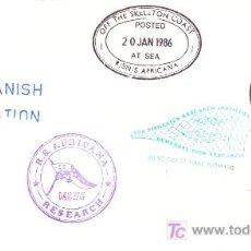 Selos: ANTARTIDA CC DEL BUQUE AFRICANA 1986 CON MARCAS VARIAS PARTICIPACION ESPAÑOLA RUSA PESCA MAT PAQUEBO. Lote 17614449