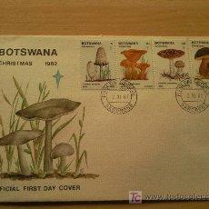 Sellos: BOTSWANA PRIMER DIA DE CIRCULACION TEMATICA SETAS. Lote 26651624