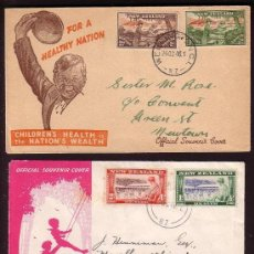 Sellos: AÑOS 1946 - 1954 * NEW ZEALAND * TRES SOBRE HEALTH STAMP COVERS CHILDREN HEALTH CAMPS AYUDA INFANTIL. Lote 24182709