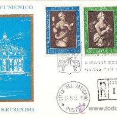 Sellos: MAGNIFICO SOBRE PRIMER DIA CITTA DEL VATICANO - CONCILIO ECUMENICO VATICANO SECONDO 1963. Lote 24481794