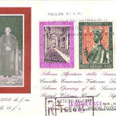 Sellos: MAGNIFICO SOBRE PRIMER DIA CITTA DEL VATICANO - GIOVANNI XXIII E PAOLO VI 1963. Lote 24482050