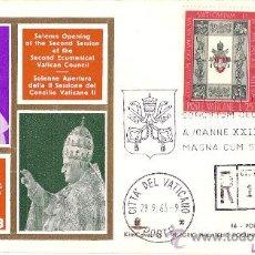 Selos: MAGNIFICO SOBRE PRIMER DIA CITTA DEL VATICANO - GIOVANNI XXIII E PAOLO VI 1963. Lote 24482204