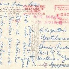 Sellos: FRANCIA, GRAN HOTEL DE LA GRUTA DE LOURDES, FRANQUEO MECANICO DE 31-5-1961 (VER POSTAL LOURDES). Lote 27175549