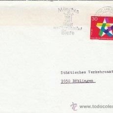 Sellos: ALEMANIA, FERIA DE LA CERVEZA DE MUNICH, MATASELLO DE 12-9-1969. Lote 30180088