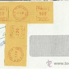 Sellos: FRANCIA PARIS BANCO DE VIZCAYA FRANQUEO MECANICO EN CARTA CERTIFICADA . Lote 30707440