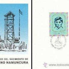 Sellos: ARGENTINA, CENTENARIO DEL BEATO CEFERINO NAMUNCURA, PRIMER DIA DE 30-8-1986. Lote 31712563