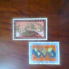 Sellos: PAR DE SELLOS DE NACIONES UNIDAS (ONU).. Lote 32905626