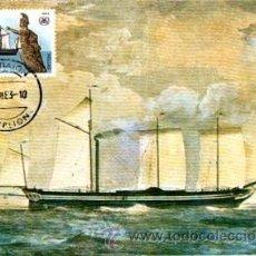 Sellos: TARJETA POSTAL BUQUE DE GRECIA, MATASELLOS EN TARJETA. Lote 32995120