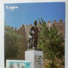 Sellos: TARJETA POSTAL. PORTUGAL. MATASELLOS DE LAGOS. ESTATUA DE GIL EANES.. Lote 33427718